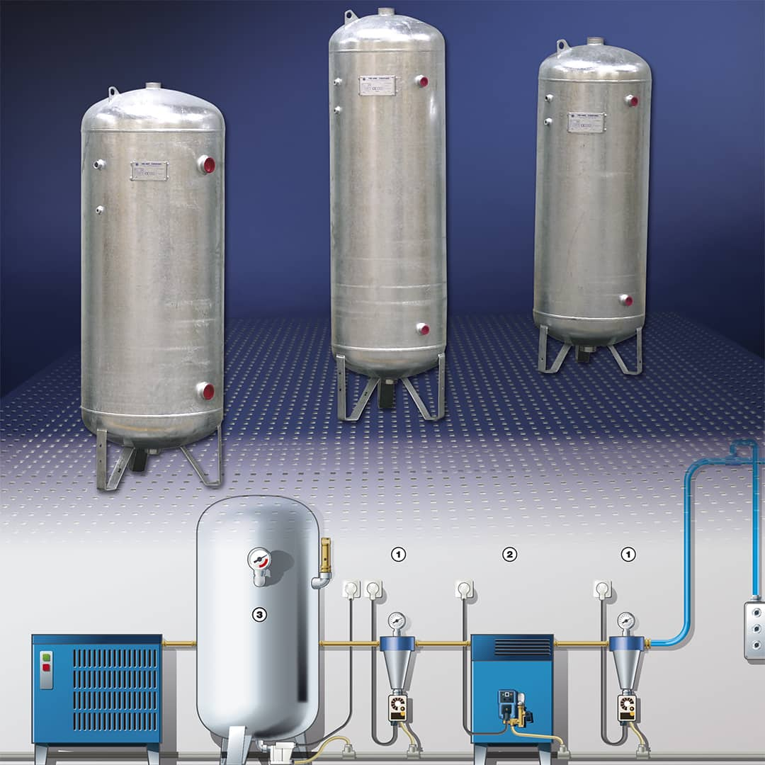 Réservoirs - Equipements air comprimé